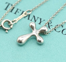 TIFFANY&Co Cross Necklace Peretti Silver 925 Pendant