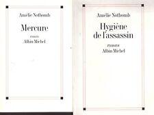 AMELIE NOTHOMB LOT MERCURE + HYGIENE DE L'ASSASSIN + PARIS POSTER GUIDE