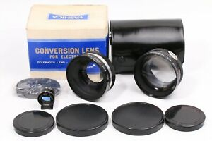 YASHICA CONVERSION LENS Wide & Telephoto & Finder w/ Case JAPAN 210958