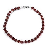 """Tennis Bracelet Silvertone Elegant Jewelry Gift for Women Size 7.5"""" Cttw 10"""