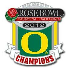 Official 2012 Rose Bowl Champions Champs Oregon Ducks Collectible Pin