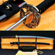Hand Forged Katana Folded Steel Japanese Samurai Sword Full Tang Sharp Blade