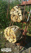 2 x Kiln Dried Wheel of Logs Hardwood Mixed Birch Ash Oak Ready 2 Burn High Heat