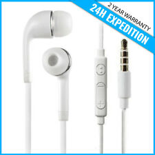 EAR HEAD BUDS EARPHONES PODS ECOUTEUR- MIC & VOLUME CONTROLS FOR SAMSUNG WHITE