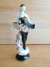 VERY RARE ART DECO ROYAL WORCESTER FIGURE OF A BALLET DANCER WITH JEWELLING