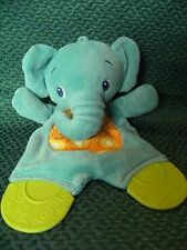 """Bright Starts Comforter, Soother, Pacifier, Teether Baby, Blue Elephant 9"""" appro"""