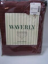 Waverly Ascot Window Valance Prussian Dot Choco Espresso Burgundy 52 x 20 NEW