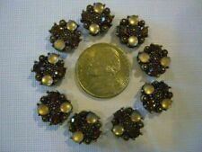 2 Hole Slider Beads Catseye & Crystal Lt Brown Made with Swarovski Elements #9