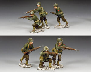 KING & COUNTRY BATTLE OF THE BULGE BBA088 U.S. INFANTRY WINTER RIFLE SECTION MIB
