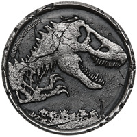 2021 Jurassic World 2oz Silver Antiqued Coin
