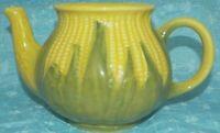 Shawnee Tea Pot Pottery Ceramic 1975 USA Glazed Crackle With Handle Spout VTG