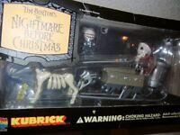 USED Nightmare Before Christmas KUBRICK Santa Jack Sleigh Medicom Japan Box