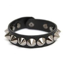 Bracelet Homme Femme Punk Rock Metal Noir