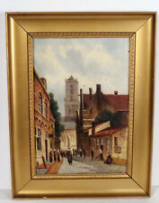 Antikes Ölgemälde Öl auf Holz Gemälde skandinavische Malerei ~1920er