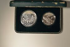 Seoul 1988 Olympic Silver Coins - two coin set - exact set pictured