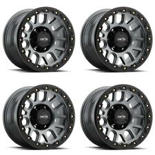 "Set 4 18"" Vision 111 Nemesis Gunmetal Wheels 18x9 6x5.5 0mm Chevy GMC 6 Lug Rims"