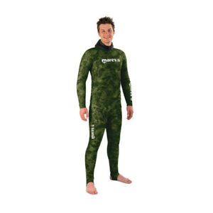 MARES Rash Guard Camo GREEN SET For Diving Snorkeling Spearfishing