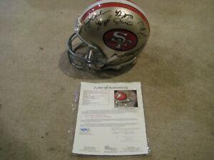 San Francisco 49ers Signed Riddell Helmet Hall of Famers and Greats LOA / JSA