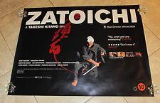 Zatoichi movie poster - Takeshi Tikano -  uk quad poster - 30 x 40 inches
