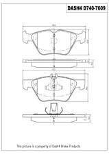 Disc Brake Pad Set-SEMI METALLIC PADS Front Dash 4 Brake MD740