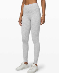 Lululemon Sz 4 Wunder Under High-Rise Tight Wee Are From Space Nimbus Battleship