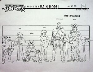 Teenage Mutant Ninja Turtles 1987 NEW MUTATION Production Copy Character Layout