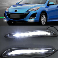 LED DayTime Running Light DRL Fog Lamp Kit For Mazda 3 2010 2011 2012 2013