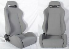 Pair of  Type-R Reclinable Racing Seat + Adjustable Silder Cloth&Grey