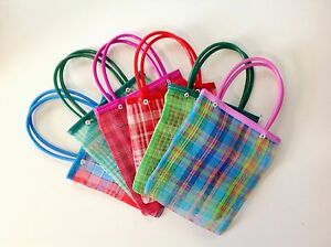 """Set of 10 Mexican Market Bags Small Mercado Goodie Bags 7.X7"""" Candy Bags Treat"""