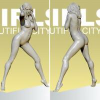 1/35 55mm Resin Soldier Model Bikini GIRL Sexy Beach Baby Hot Lady TD-2155
