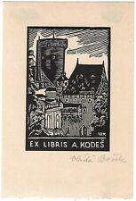 VLADA BOREK: Exlibris für A. Kordes, Burg, 1928