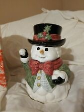 Snow Gentleman by Fitz & Floyd: Snowman Cookie Jar Christmas Holiday Collectable