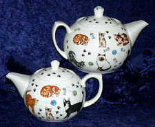 Cat teapot cats kittens design 2 cup or 6 cup porcelain teapot or milk sugar