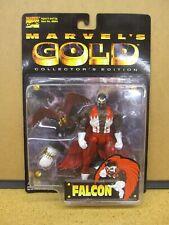 Marvel's Gold Collector's Edition Falcon - New Rare Toy Biz 1999 Figure