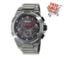 BRAND NEW HUGO BOSS MEN'S 1513361 SUPERNOVA METAL GUN EDITION CHRONOGRAPH WATCH