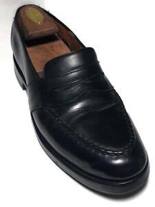 Allen Edmonds Randolph Men's Black Leather Apron Toe Penny Loafers - Size  8.5D