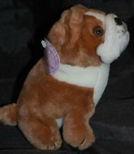 J Misa Collection Pug Puppy Dog  Brown White Stuffed Animal Lovey New Hang Tag