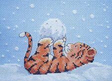 KL54 Toto dans la neige Cross Stitch Kit Par Genny Haines de goldleaf Needlework