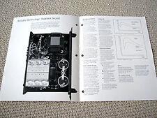 Hafler P-505 power amplifier brochure catalogue