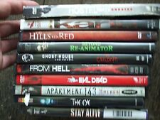 LOT HORROR DVD FROM HELL EVIL DEAD APARTMENT 43 THE EYE GHOST HOUSE KARLA HOSTEL