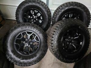 "2021 18"" Dodge RAM 1500 TRX black OEM factory wheels rims 325/65/18"