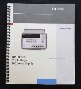 GENUINE HEWLETT PACKARD HP E3631A TRIPLE OUTPUT DC POWER SUPPLY SERVICE MANUAL