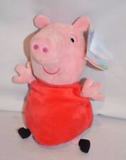 """Peppa Pig Stuffed Animal With Sound Oinks 9"""" Plush Character Toy Beanie"""