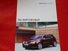 VW Golf V Individual Prospekt + Preisliste von 2004