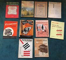 Lot 10 Piano Organ Music, Hammond, Wurlitzer, etc - pre owned