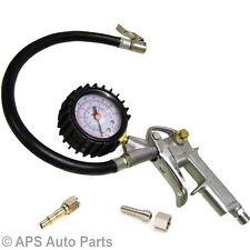 Neumático De Coche Camioneta Aire Inflador Medidor Dial Manómetro Compresor Conector Rápido