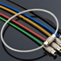6Stk Edelstahl Draht Schlüsselbund Kabel Schlüssel Schlüsselring aus Drahts M2H6