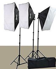 2400 Watt Softbox Lighting Kit Chromakey Green Screen Video Lighting Kit Thre...