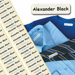 50 Printed Name Labels/Tags IRON-ON School tapes Soft satin fabric INC POSTAGE