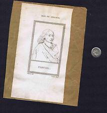 Physicist Blaise Pascal & Egyptian Ptolemy II Philadelphus - 1806 Copper Prints